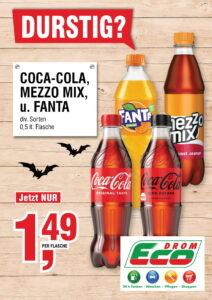 Coca Cola, Mezzo Mix od. Fanta 0,5L EUR 1,49